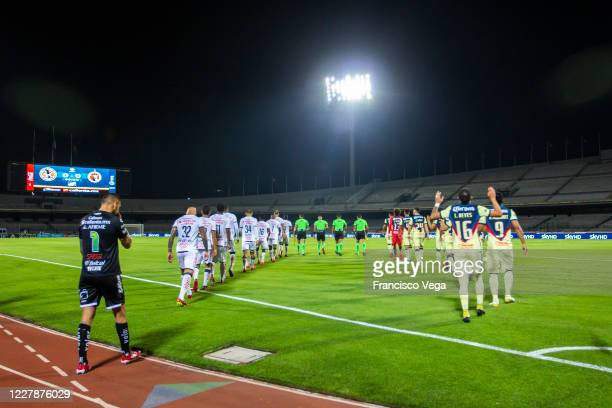 Players of Tijuana and America get in the field prior the 2nd round match between America and Tijuana as part of the Torneo Guard1anes 2020 Liga MX...