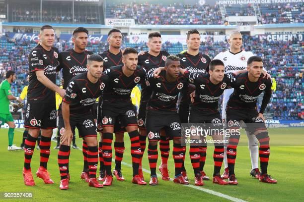Players of Tijuana pose prior the first round match between Cruz Azul and Tijuana as part of the Torneo Clausura 2018 Liga MX at Azul Stadium on...