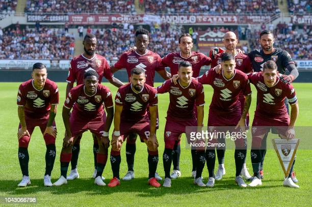 Players of Torino FC pose for a team photo prior to the Serie A football match between Torino FC and SSC Napoli SSC Napoli won 31 over Torino FC