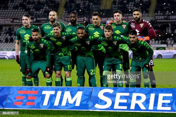 Players of Torino FC pose for a team photo prior to the Serie A football match between Torino FC and Atalanta BC The match ended in a 11 tie