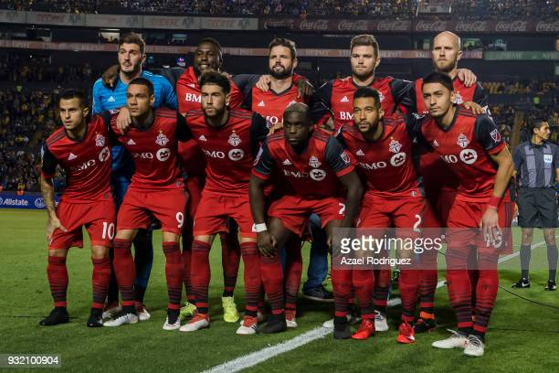 Players of Toronto pose prior the quarterfinals second leg match between Tigres UANL and Toronto FC as part of the CONCACAF Champions League 2018 at...