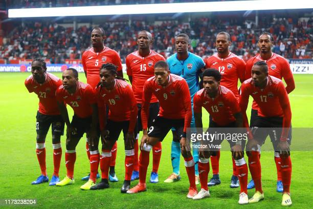 Players of Trinidad & Tobago pose for the team photo during the international friendly between Mexico and Trinidad & Tobago at Nemesio Diez Stadium...