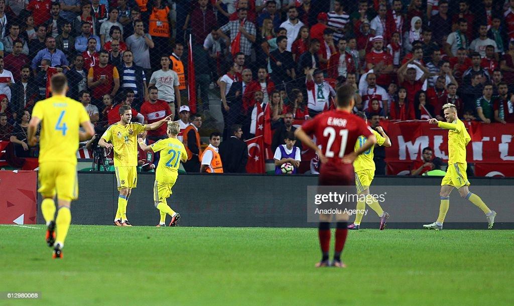 Turkey v Ukraine : UEFA 2018 World Cup Qualifying : News Photo