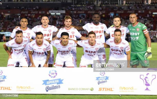 Players of Union pose for a photo prior a match between River Plate and Union as part of Round 12 of Superliga 2018/19 at Estadio Monumental Antonio...