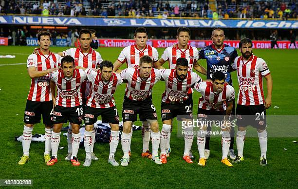 Players of Union Santa Fe pose for a team photo prior to a match between Boca Juniors and Union Santa Fe as part of 19th round of Torneo Primera...