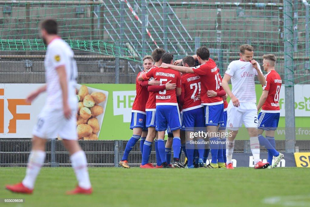 SpVgg Unterhaching v FC Wuerzburger Kickers - 3. Liga : Nachrichtenfoto