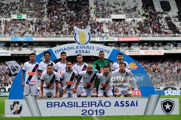 Players of Vasco da Gama pose for the team photo prior to a match between Botafogo and Vasco da Gama as part of the Brasileirao Series A championship...