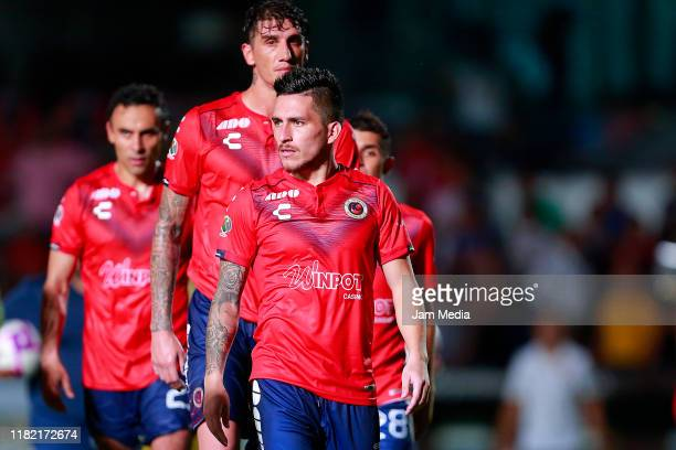 Players of Veracruz leave the field after the 14th round match between Veracruz and Tigres UANL as part of the Torneo Apertura 2019 Liga MX at Luis...