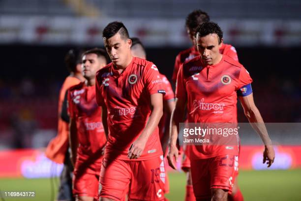 Players of Veracruz leave the field during the 6th round match between Veracruz and Atletico San Luis as part of the Torneo Apertura 2019 Liga MX at...