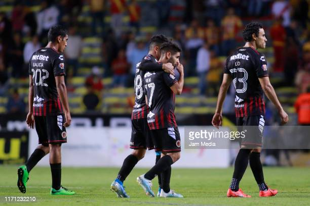 Players of Veracruz ract after eing defeated at the end of the 8th round match between Morelia and Veracruz as part of the Torneo Apertura 2019 Liga...