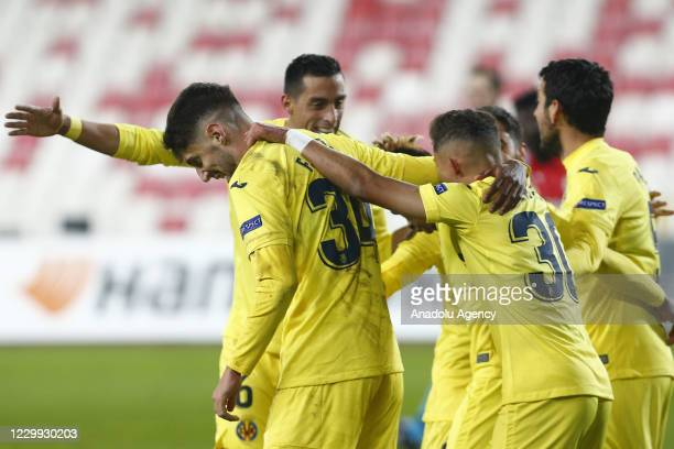 Players of Villarreal celebrate after scoring a goal during UEFA Europa League Group I match between Demir Grup Sivasspor and Villarreal at the 4...
