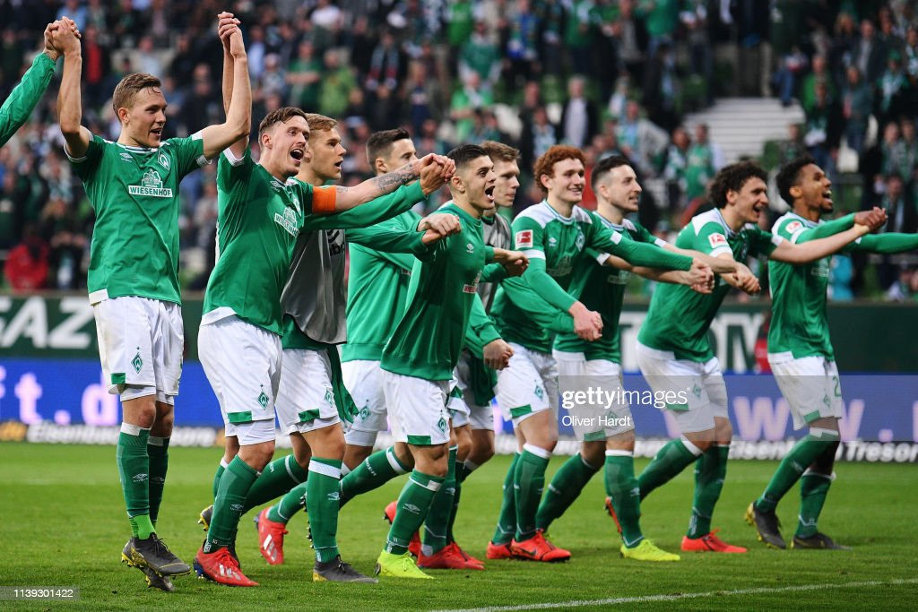 Players Of Werder Bremen Celebrate After The Bundesliga Match Between News Photo Getty Images