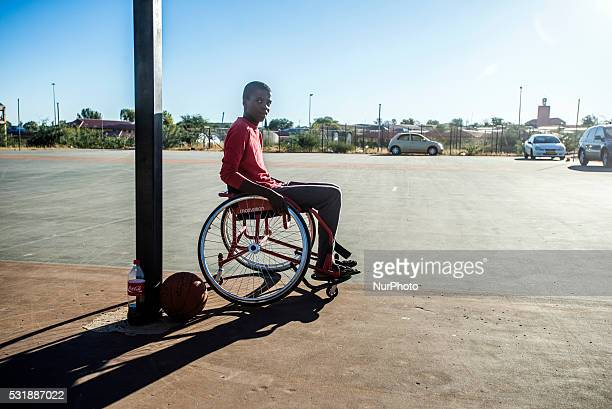 Players of WheelAbility Sports Club basketball team have their training in Katutura Windhoek Namibia Every Sunday they invite people from the...