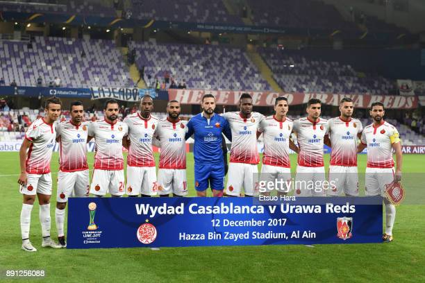 Players of Wydad Casablanca line up for the team photos prior to the FIFA Club World Cup UAE 2017 Match for 5th Place between Wydad Casablanca and...