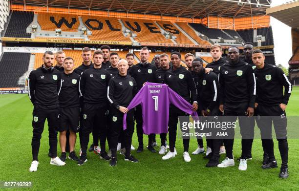 Players of Yeovil Town show their support with a signed shirt for Carl Ikeme of Wolverhampton Wanderers who is receiving treatment for leukaemia...