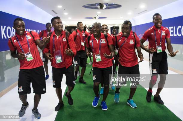Players of Zambia arrive at the stadium prior to the FIFA U-20 World Cup Korea Republic 2017 Quarter Final match between Italy and Zambia at Suwon...