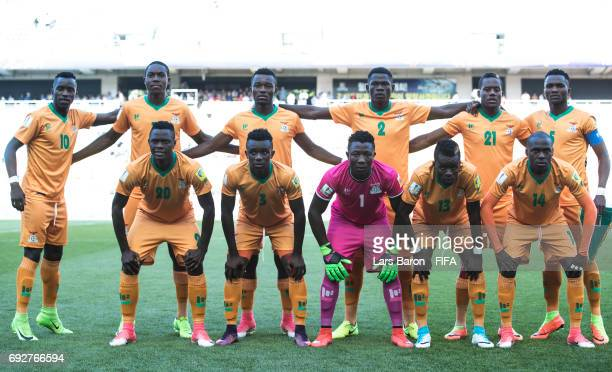 Players of Zambia pose for a picture during the FIFA U20 World Cup Korea Republic 2017 Quarter Final match between Italy and Zambia at Suwon World...