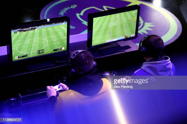Players participate during day one of the 2019 ePremier League Finals at Gfinity Arena on March 28 2019 in London England