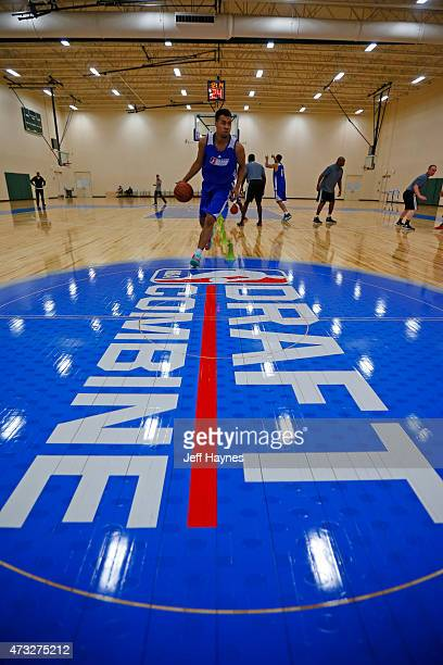 Players participate in the agility drills during the 2015 NBA Development League Elite Mini Camp at the Quest Multisport Complex in Chicago May 11...