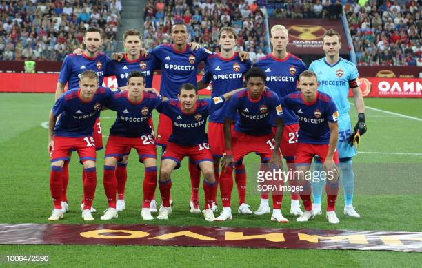 Players PFC CSKA Moscow players seen having their team photo taken before the Olimp Super Cup of Russia CSKA moscow won the Olimp Super Cup of Russia...