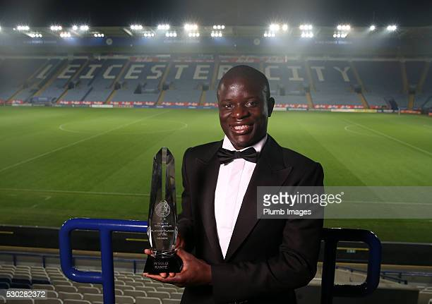 Players player of the year award winner N'Golo Kante during the Leicester City Awards Evening at the King Power Stadium on May 10th 2016 in Leicester...