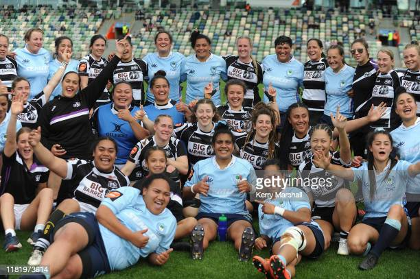 Players pose for a photo following the Farah Palmer Cup Championship Semi Finals match between Hawkes Bay and Northland at McLean Park on October 19...