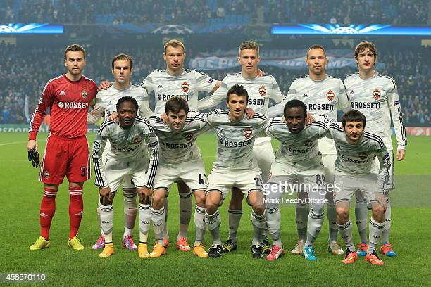 CSKA players pose for a team photograph prior to the UEFA Champions League Group E match between Manchester City and CSKA Moscow on November 5 2014...