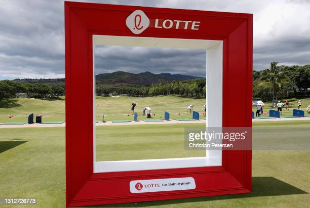 Players practice on the range during the second round of the LPGA LOTTE Championship at Kapolei Golf Club on April 15, 2021 in Kapolei, Hawaii.