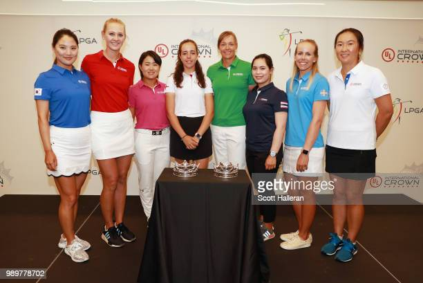 LPGA players So Yeon Ryu of South Korea Jessica Korda of the United States Nasa Hataoka of Japan Georgia Hall of England Katherine Kirk of Australia...