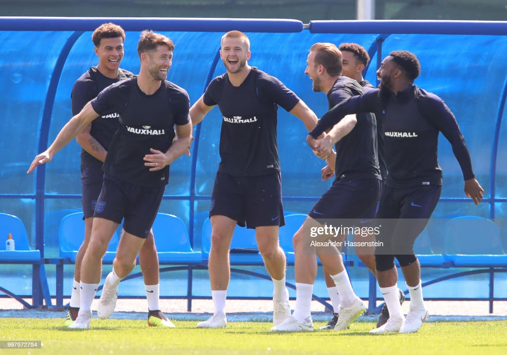 England Training Session & Press Conference - 2018 FIFA World Cup Russia : News Photo