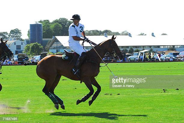 Players take part in the polo match at the Mercedes-Benz Polo Challenge hosted by Jessica Biel and The Island Villas at Molasses Reef on August 12,...