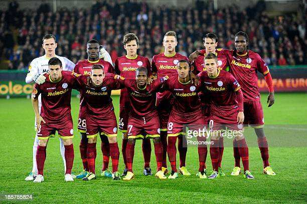 Players with Zulte are shown during the UEFA Europa League group D matchday 3 match between SV Zulte Waregem and NK Maribor 1960 at Jan Breydel...