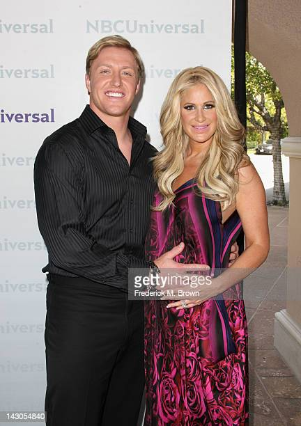 Player/TV Personality Kroy Biermann and TV Personality Kim Zolciak arrive at the NBCUniversal summer press day held at The Langham Huntington Hotel...