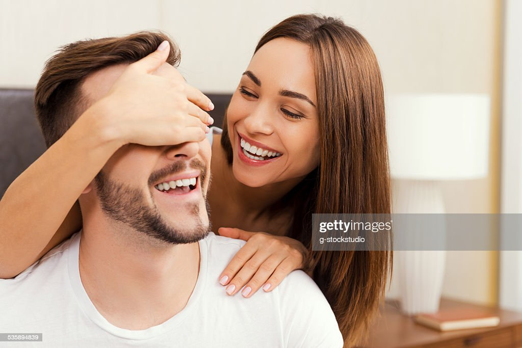 Spielerische Paar. : Stock-Foto