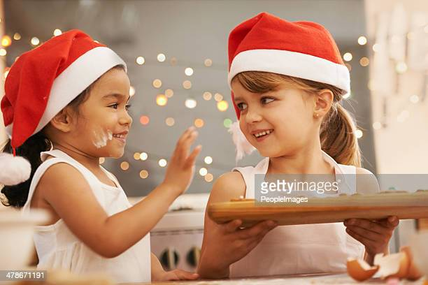 Playful holiday bakers