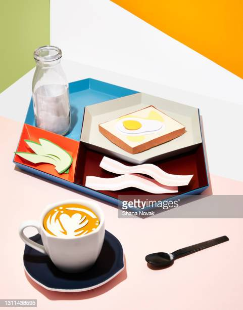"playful paper food breakfast - ""shana novak"" stock pictures, royalty-free photos & images"