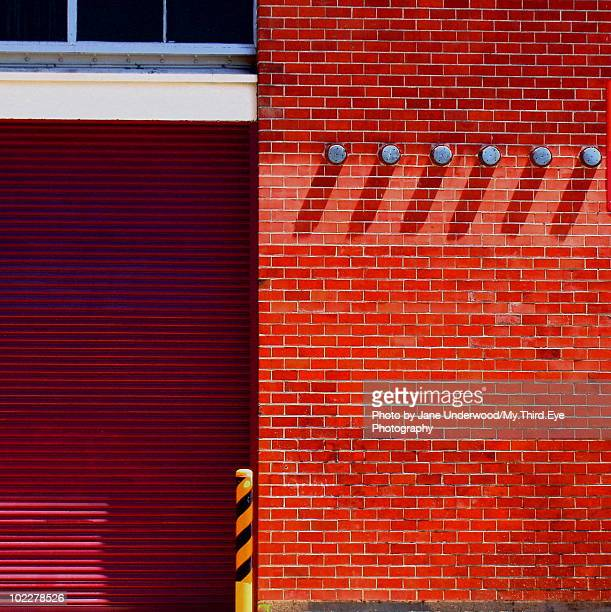 Playful Red Brick Wall