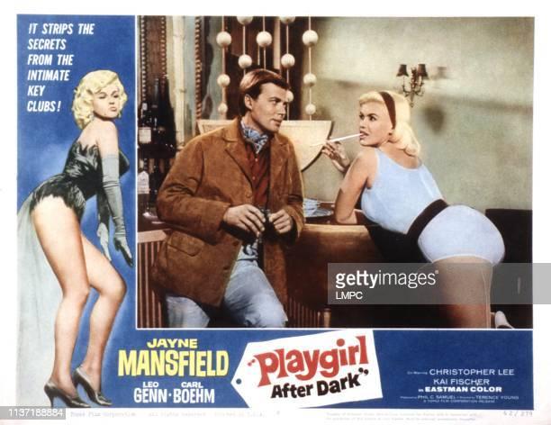 Playgirl After Dark lobbycard Carl Boehm Jayne Mansfield 1960