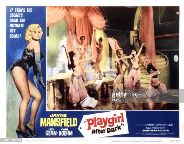 Playgirl After Dark lobbycard Danik Patisson 1960