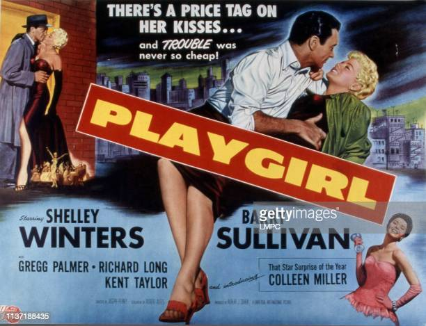 Playgirl lobbycard Barry Sullivan Shelley Winters Colleen Miller 1954