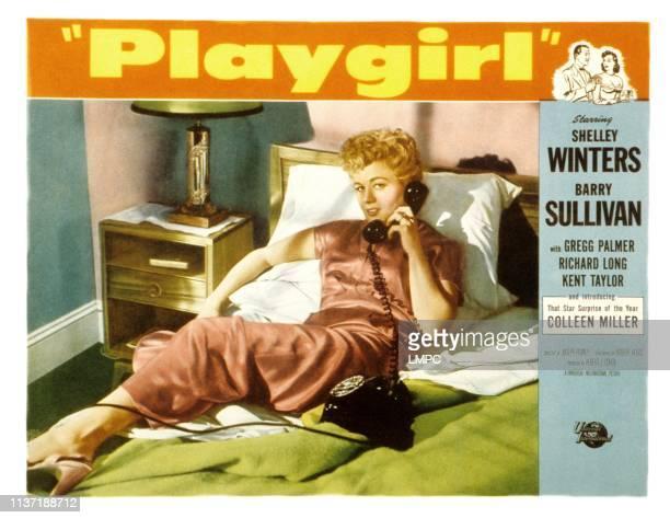 Playgirl lobbycard Shelley Winters 1954