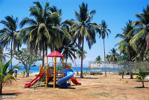 Playground Area at Beach Resort in Sanya, China