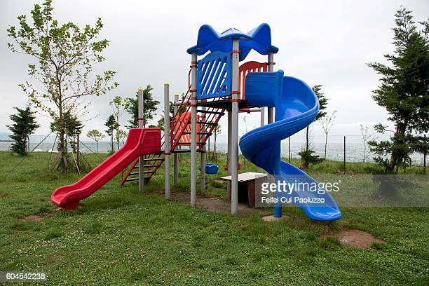 Playground at Black sea of Iyidere of Turkey