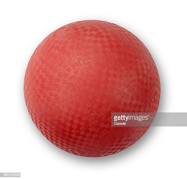 playground ball red - kickball stock photos and pictures