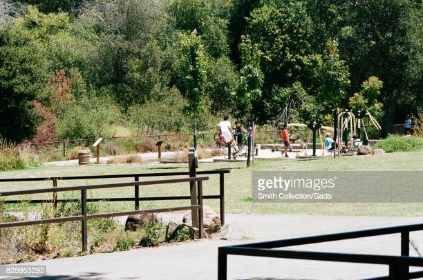 Playground in a field at Lake Chabot, an East Bay Regional Park in the San Francisco Bay Area town of Castro Valley, California, July 16, 2017.