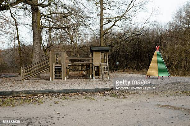 playground in park - albrecht schlotter stock photos and pictures