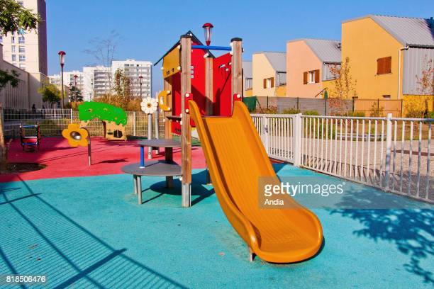 Playground in the district of Les Sablons in Le Mans