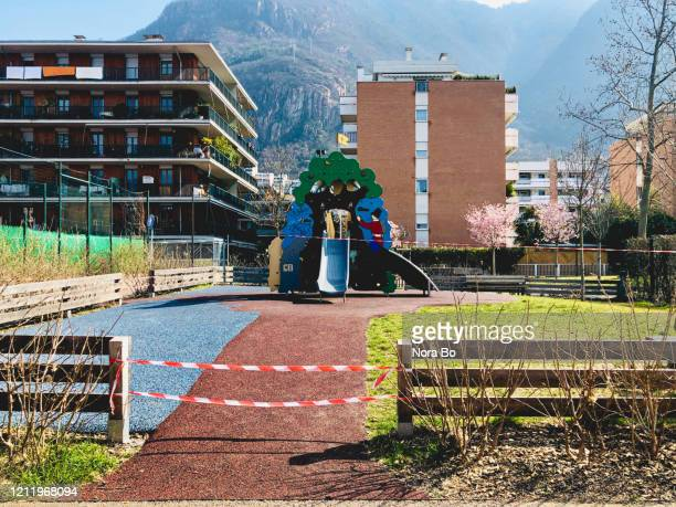playground - life under lockdown - lockdown stock pictures, royalty-free photos & images