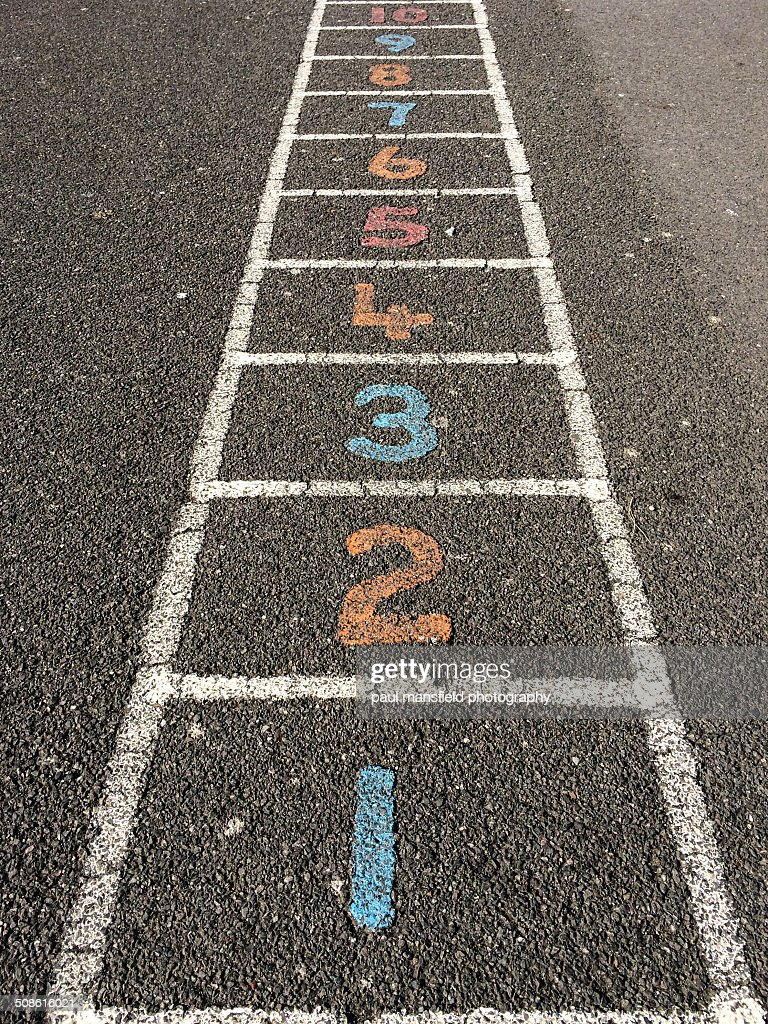 Playground number ladder : Stock Photo