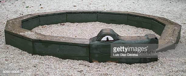 playground wooden snake